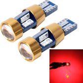 2 STKS T10 3W Foutvrij licht voor auto-inklaring met 19 SMD-3030 LED-lamp, DC 12V (rood licht)