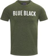 Blue Black Amsterdam Jongens T-shirt Tony - Groen Melange - Maat 152