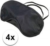 Slaapmasker zwart 4 stuks