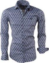Ferlucci - Heren Overhemd met Trendy Design - Calabria - Grijs