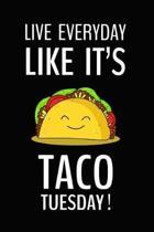 Live Everyday Like It's Taco Tuesday. Love Tacos