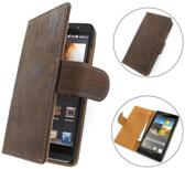 TCC PU Leder Hoesje Huawei Ascend G6 Book/Wallet Case/Cover Donker Bruin