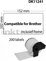 Brother DK-11241 wit