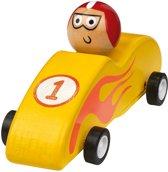 Moses Houten Racewagen 11,5 Cm Geel