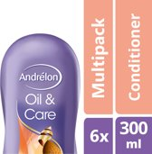 Andrélon Oil & Care Conditioner - 6 x 300 ml - Voordeelverpakking