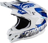 Scorpion Crosshelm VX-15 Evo Air Defender White/Blue-L