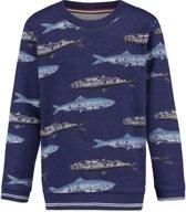 Noppies Jongens Sweater met all over print Rossford - Patriot Blue - Maat 92