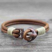 Armband Camel Leer Geel Arrow