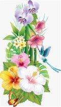 Diamond painting - Japanse bloemen - 30x48cm