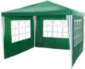 Paviljoen partytent groen - 3 zijwanden - 3 x 3 m