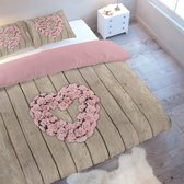 Nightlife Dekbedovertrek Wood Flower Pink-240x200/220