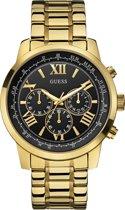 GUESS Watches -  W0379G4 -  Horloge -  Mannen -  RVS - Goudkleurig -  45  mm