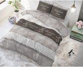 Sleeptime Hotel Suite - Dekbedovertrekset - Tweepersoons - 140x200/220 + 2 kussenslopen 60x70 - Taupe