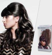 Balmain haarstuk B-Loved, Memory®hair, kleur MILAN, een mix van chocolade bruine tinten.
