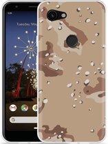 Google Pixel 3a XL Hoesje Army Desert Camouflage