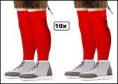 10x Paar Tiroler sokken lang rood mt.39-42 en mt.43-46