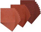 Assortiment delta-papier, flexibel schuurpapier, 54 x 54 mm