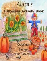 Aiden's Halloween Activity Book