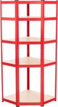 Clp Flint - Hoekstelling - rood 94x77x180 cm