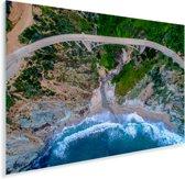 Bixby Creek en Bixby Creek Bridge in Big Sur Amerika Plexiglas 90x60 cm - Foto print op Glas (Plexiglas wanddecoratie)