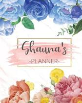 Shauna's Planner: Monthly Planner 3 Years January - December 2020-2022 - Monthly View - Calendar Views Floral Cover - Sunday start