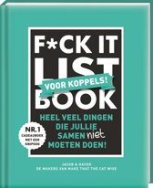 Boek cover F*CK-it list book voor koppels van Jacob & Haver (Hardcover)