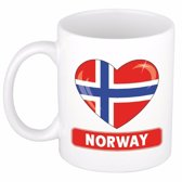 Hartje Noorwegen mok / beker 300 ml