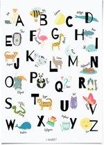 ABC Alfabet poster nederlands 30x40 cm