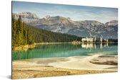 Omgeving in het Nationaal park Banff in Canada Aluminium 180x120 cm - Foto print op Aluminium (metaal wanddecoratie) XXL / Groot formaat!