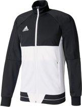 adidas Tiro17 Trainingsjas - Maat M  - Mannen - wit/zwart