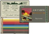 111-jarig bestaan limited edition A.W. Faber-Castell Polychromos bliketui a 12 stuks