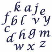 Liniaal uitsteker / tappit - alfabet / lower case letters - FMM