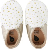 Bobux babyslofjes white gold spots trims loafer - maat 20