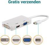 Saizi 3 in 1 Supersnelle Mini Display port (Thunderbolt) Naar VGA & HDMI & DVI Monitor Kabel / Adapter / Schakelaar / Mini Display Port To VGA Connector / Omvormer Voor Apple / Mac / Macbook