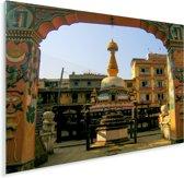 Kleurrijke foto van het Durbarplein Plexiglas 160x120 cm - Foto print op Glas (Plexiglas wanddecoratie) XXL / Groot formaat!