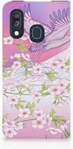 Samsung A40 Standcase Hoesje Bird Flying