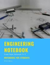 Engineering Notebook: Graph Paper Notebook 5 x 5, Quad Ruled, 200 Pages, 100 Sheets, 7.44'' x 9.69'', Notebook for Students
