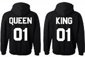 Hippe valentijn sweater | King & Queen | set Hoodie | Printed by StickyStore