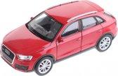 Welly Miniatuur Audi Q3 Rood