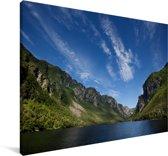 Berglandschap in het Nationaal park Gros Morne in Canada Canvas 60x40 cm - Foto print op Canvas schilderij (Wanddecoratie woonkamer / slaapkamer)