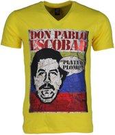 Mascherano T-shirt - Don Pablo Escobar - Geel - Maat: L