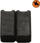 Koolborstelset voor Black & Decker Schuurmachine P2243 - 6,3x6,3x11,5mm