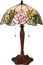 Clayre & Eef Tafellamp Tiffany Ø 40x61 cm E27/max. 2x60 Watt