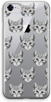 iPhone 8 Transparant Hoesje (Soft) - Kitten