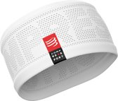 Compressport Hoofdband On/Off Wit One Size
