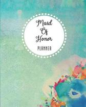 Maid Of Honor Planner: Wedding Planning Checklist, Calendar and Notebook for the Ultimate Organizer! - Watercolor Garden Flowers Theme