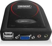 Eminent EM1037 KVM-switch Zwart