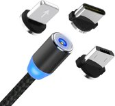 Bluetoolz® Universele Magnetic USB laadkabel, inclusief 3 adaptors