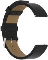 KELERINO. Lederen bandje voor Fitbit Versa - Zwart