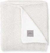 Jollein Deken 75x100cm River knit cream white/coral fleece